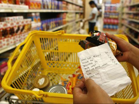Write a list before you shop