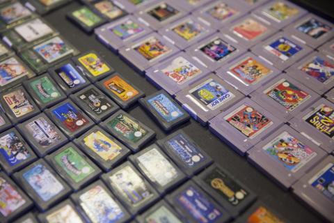 Cartuchos de juegos de consola Nintendo.