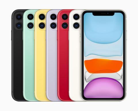 Los colores de lanzamiento del iPhone 11.
