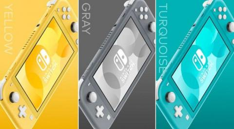 6. The Switch Lite comes in three colors: Yellow, Grey, and Turquoise.