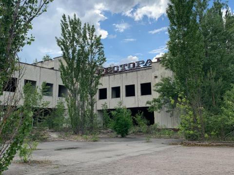Edificio abandonado en la zona de exclusión