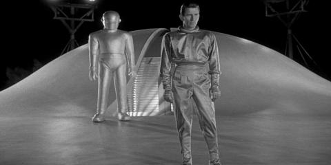 """A still from the 1951 movie """"The Day The Earth Stood Still."""""""