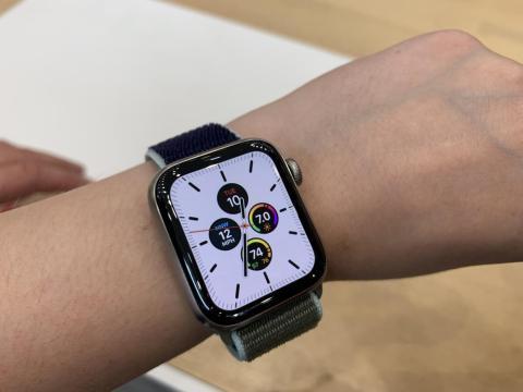 The Apple Watch's new titanium casing felt surprisingly light.