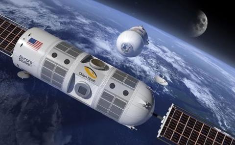 Prototipo de Aurora Station, el hotel de lujo espacial que se pretende orbitar sobre la Tierra.