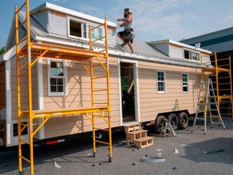 Una casa portátil en construcción