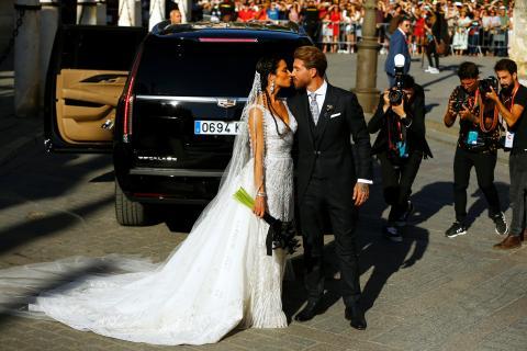 La boda de Sergio Ramos con Pilar Rubio.