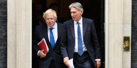 Boris Johnson y Philip Hammond