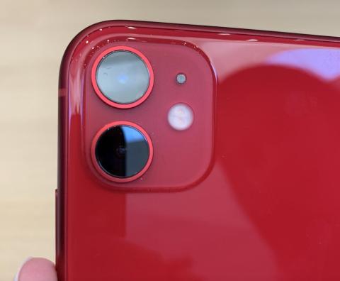 El iPhone 11 en color rojo.