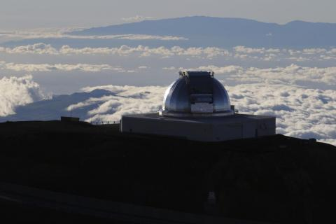 A telescope at the summit of Mauna Kea, Hawaii's tallest mountain, on July 14, 2019.