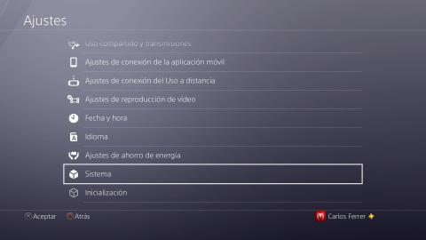 Cómo actualizar los juegos de PlayStation 4 a través de losAjustes generales del sistema