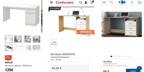 Cómo amueblar tu habitación por 600 euros: escritorios