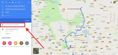 Cómo añadir una parada intermedia en Google Maps desde el ordenador