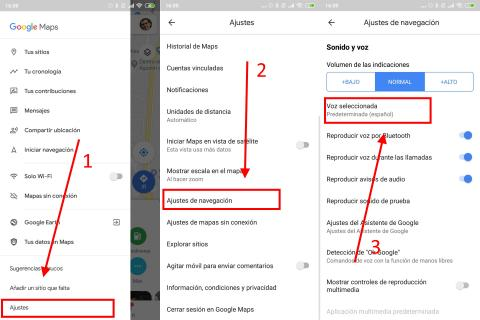 Como cambiar la voz de Google Maps en Android