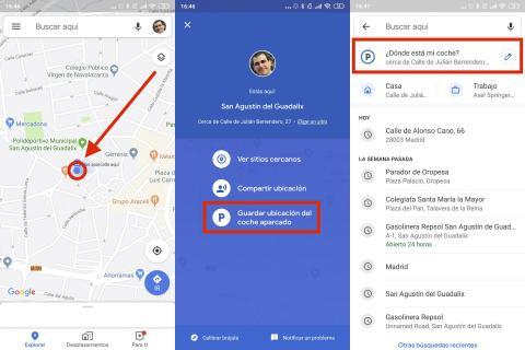 Cómo saber dónde has aparcado tu coche con Google Maps