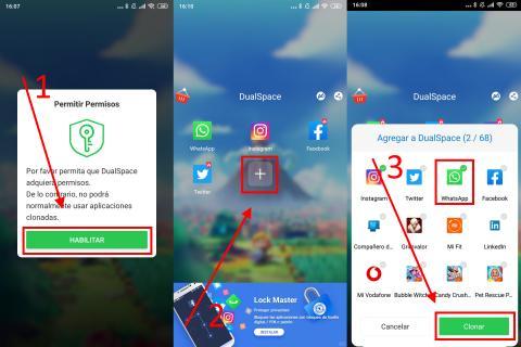 Cómo usar dos cuentas de WhatsApp en un mismo móvil a través de una aplicación externa