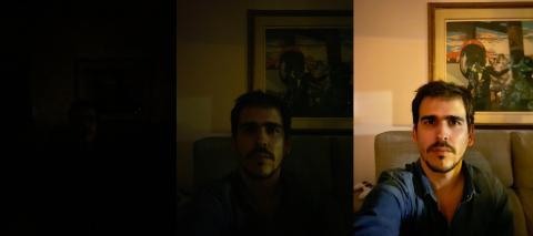 Comparativa modo noche en personas del iPhone 11