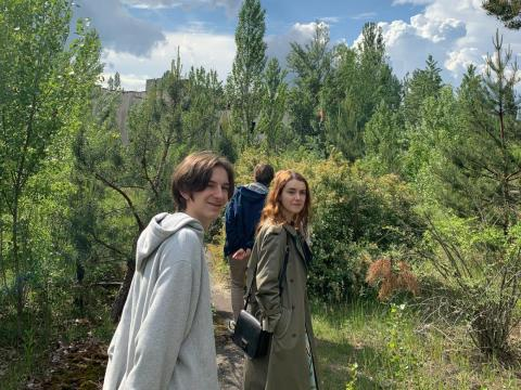 Una foto hecha por Julia Czub dentro de la zona de exclusión.