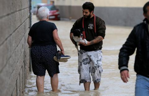 La DANA ha afectado gravemente a municipios como Orihuela, en la foto.