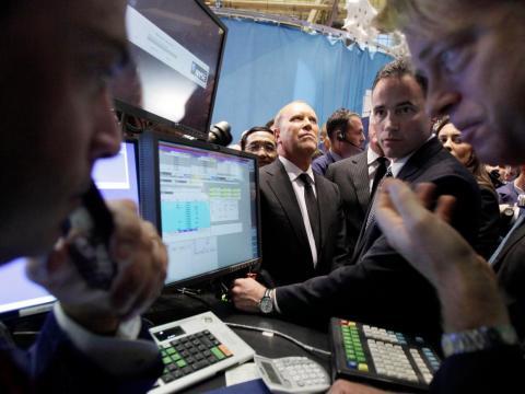 Michael Kors en la Bolsa de Nueva York.