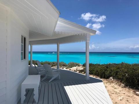 Vista desde una casa Deltec en las Bahamas.