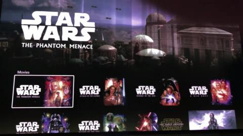 """Disney has the full rights to """"Star Wars,"""" so the company will feature every film in the main series, in order, right in the app. You can also watch any of the movie spin-offs or TV shows there, too."""