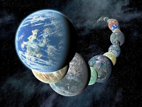 Los planetas similares a la Tierra tienen diferentes tamaños y composiciones.