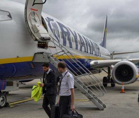Empleados de Ryanair