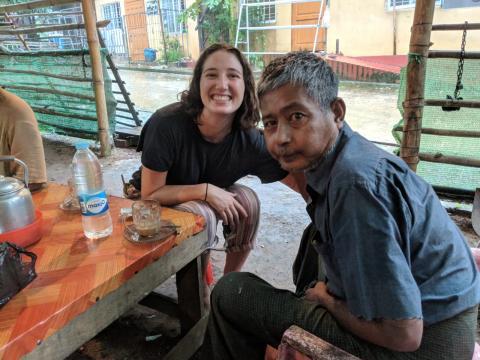 En Myanmar pasé una semana haciendo un voluntariado ayudando en un hospital, donde conecté mucho con varios pacientes.