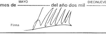 Firma Santiago Abascal
