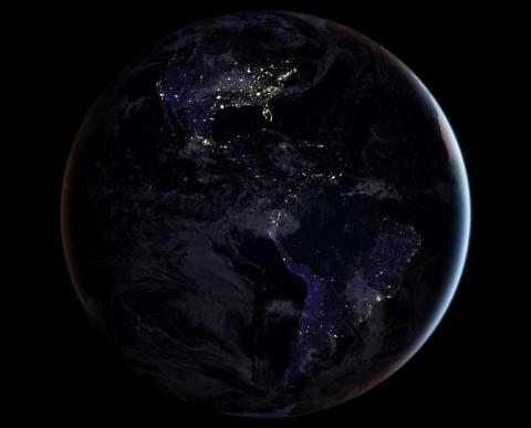 A picture of Earth from space, taken November 7, 2017.