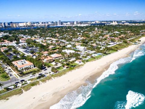 Palm Beach, Florida, where Trump owns three homes.