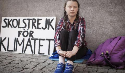Greta Thunberg, una sueca de 16 años, se ha convertido en la cara del activismo por el cambio climático.