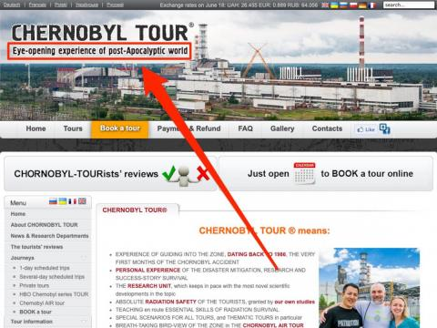 """The guided tour company SoloEast has been taking visitors into Chernobyl since 2000, according to CNN. And the website for Chernobyl Tour advertises an """"eye-opening experience of post-apocalyptic world."""""""
