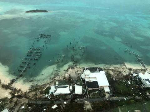 Así ha devastado el huracán las islas Abaco.