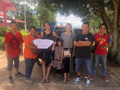 haciendo autostop en Tailandia