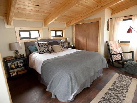 La pequeña casa de David Cottrell y su esposa Kristen Moeller.