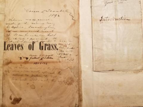 """Walt Whitman's personal copy of """"Leaves of Grass."""""""