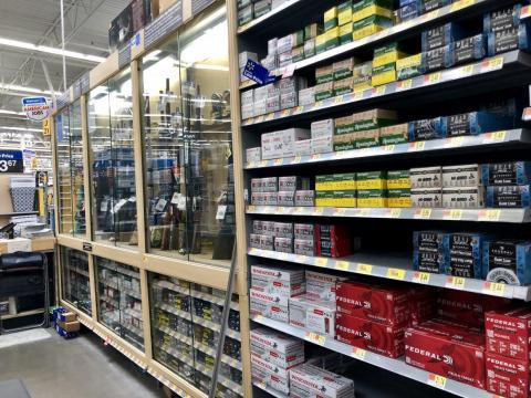 I also browsed the shelves of ammunition. Walmart said recently that it accounted for about 2% of all gun sales and 20% of ammunition sales in the US.