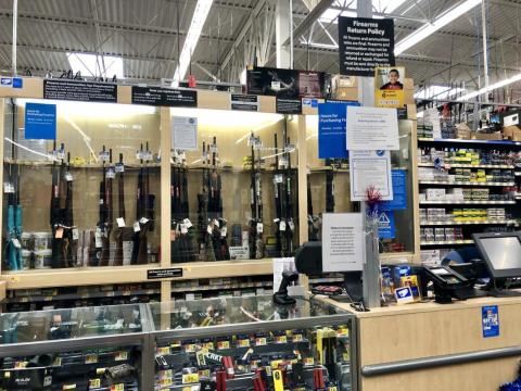 I told an employee behind the counter that I wanted to buy a gun. They called for a manager.