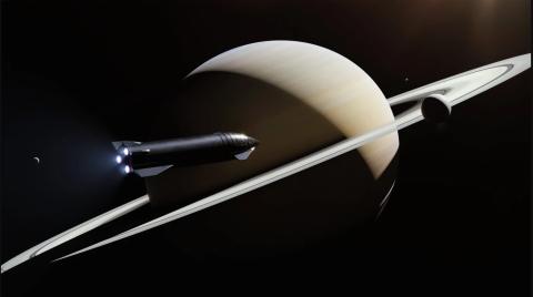 Ilustración de Starship en el espacio