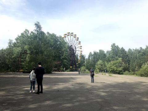 l parque de atracciones en Pripyat.