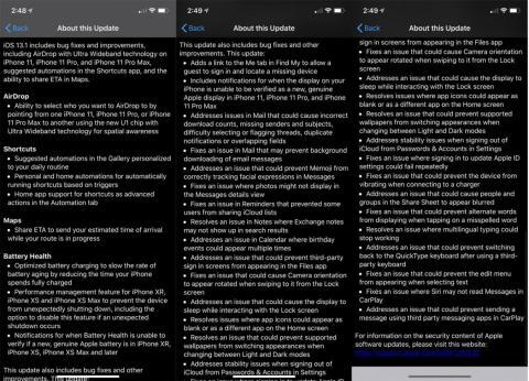 La lista de las correcciones de errores de iOS 13 es larguísima.