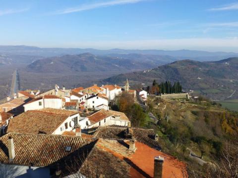 Paisaje de Istria, región de Croacia