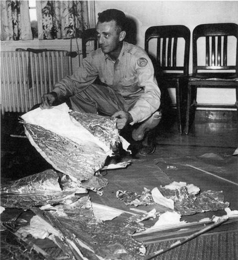 Jesse Marcel, a local Air Force head intelligence officer, who initially investigated and recovered some of the debris from the Roswell UFO site 1947.