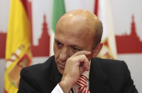 José María del Nido, en una rueda de prensa en 2013.