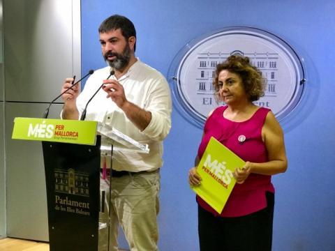 Josep Ferrà, portavoz parlamentario de Més per Mallorca.