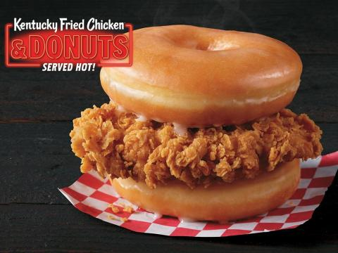 "KFC's ""Kentucky Fried Chicken and Donuts"" sandwich."