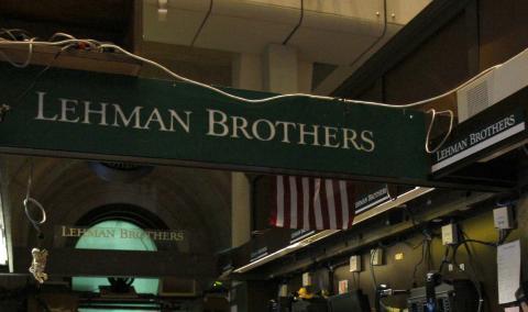 Lehman Brothers, en la Bolsa de Nueva York, antes de su quiebre en septiembre de 2008.