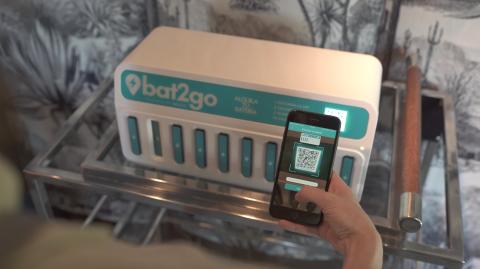 Máquina de baterías de Bat2go
