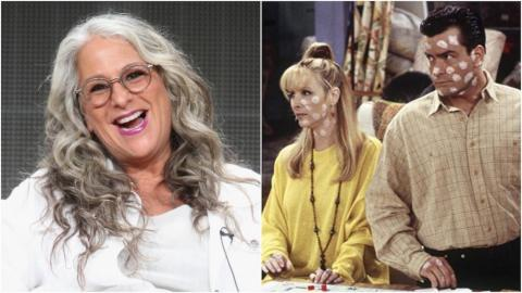 """Marta Kauffman, left, and Lisa Kudrow and Charlie Sheen in """"The One With The Chicken Pox."""""""